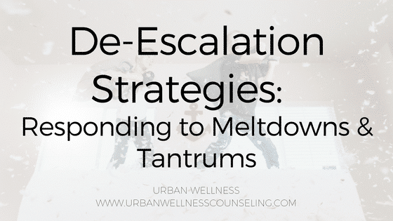 De-Escalation Strategies:  Responding to Meltdowns & Tantrums